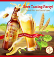 promotion banner for beer tasting party vector image vector image