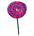 purple lollipop on white background vector image vector image