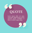 quote blank template design elements circle vector image vector image