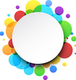 Round color background vector image vector image