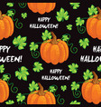 seamless happy halloween pattern vector image