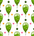 Seamless pattern with cute cartoon balloons 2 vector image vector image