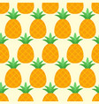 seamless pineapple pattern on yellow background vector image