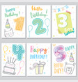 set happy birthday baby vector image vector image