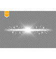 shining line with light effects isolated on black vector image vector image