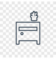 side table concept linear icon isolated on vector image