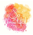 So Beautiful Typography Design vector image vector image