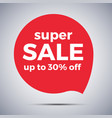 special offer sale red tag vector image vector image