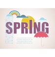 Spring time card vector image