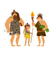 stone age family vector image