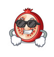 super cool slice of ripe pomegranate character vector image vector image