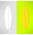 surfboard in realistic design vector image