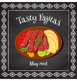 tasty fajitas vector image vector image