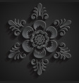 Traditional balinese ornament Stone flower vector image vector image