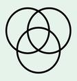 Tri circle vector image