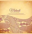 vintage henna mehndi background vector image