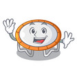 waving trampoline character room on place isolated vector image