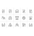 wedding and family hand drawn sketch icon set vector image