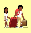 young afro american couple vector image