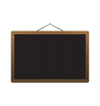 Black chalkboard with brown corners over white vector image
