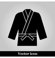 Karate suit icon on background vector image