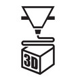 a black 3d printer icon vector image vector image