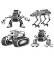 a set of isolated robot vector image