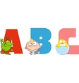 ABC Joyful Cartoon Alphabet vector image vector image