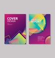 abstract gradient modern geometric flyer and vector image