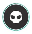 Alien Head computer symbol vector image vector image