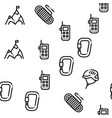 alpinism seamless pattern vector image vector image
