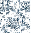 bamboo japanese pattern nature pine traditional vector image
