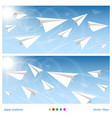 banner flights vector image vector image
