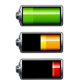 batteries icons vector image vector image