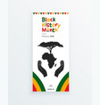 black history month web banner template with the vector image vector image