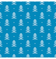 blue background with white tree and snow vector image
