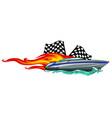 boat graphics stripe vinyl ready vector image vector image