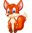 cartoon animal fox vector image vector image