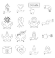 Charity icons set outline style vector image vector image