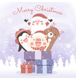 christmas for greeting card vector image vector image