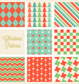 christmas seamless pattern in vintage style vector image vector image