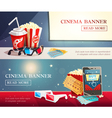 Cinema Entertainment Flat Horizontal Banners vector image vector image