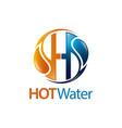 circle hot water drop initial letter h logo vector image vector image