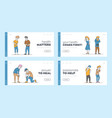 couple characters feeling different kinds pain vector image vector image