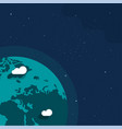 earth planet from outer space banner for copy vector image