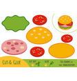 education paper game for children burger vector image vector image