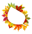 Fall composition vector image vector image
