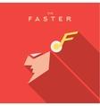 Faster Hero superhero Mask flat style icon vector image vector image