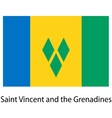 Flag of the country saint vincent and grenadines vector image vector image