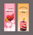 flyer design of valentine day party vector image vector image